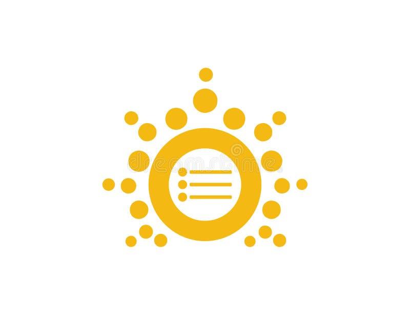 Logo luminoso di affari della lista di Sun fotografia stock libera da diritti