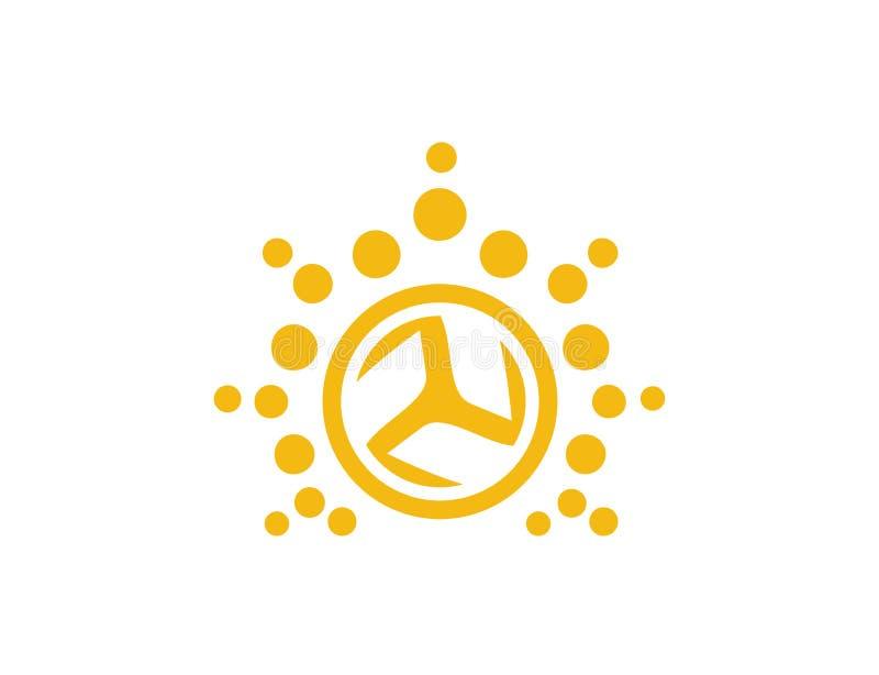 Logo luminoso di affari della ruota di Sun fotografia stock libera da diritti
