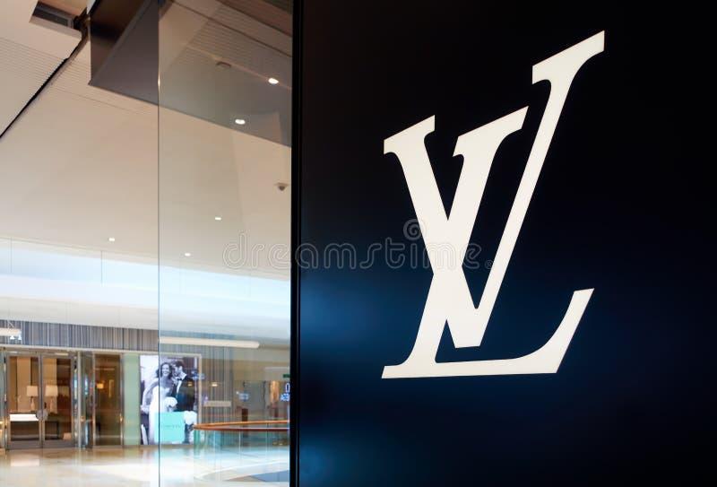Logo LV Louis Vuitton stockbild