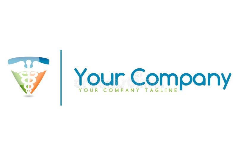 Logo médical de caducée images libres de droits
