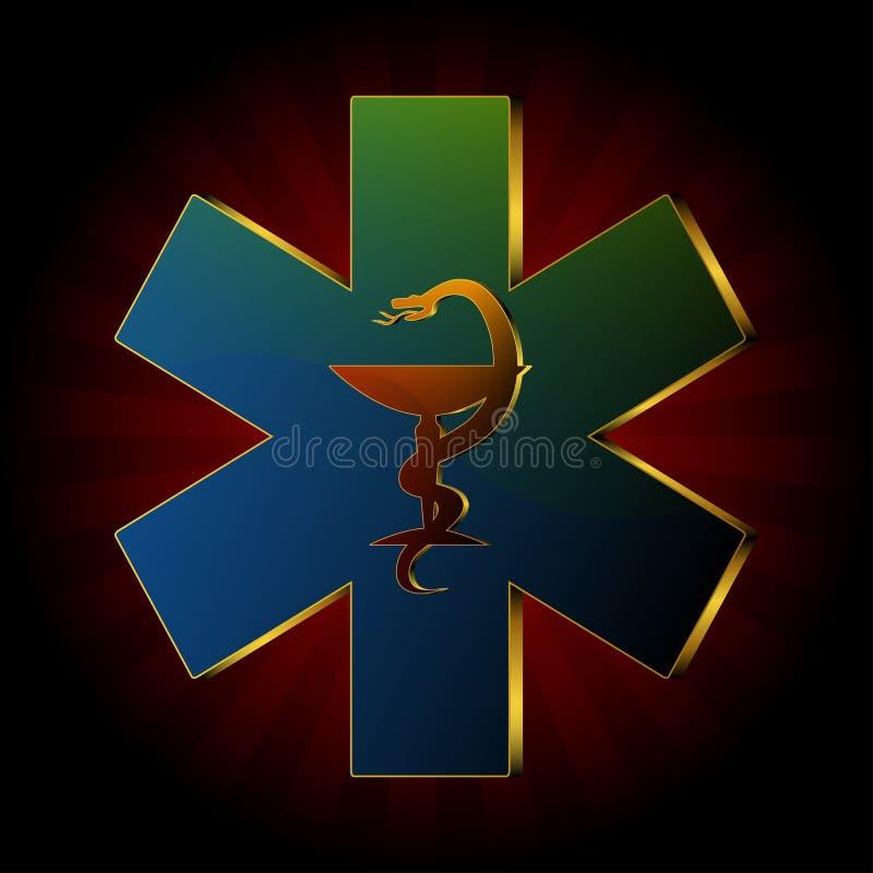 Logo médical de serpent illustration de vecteur