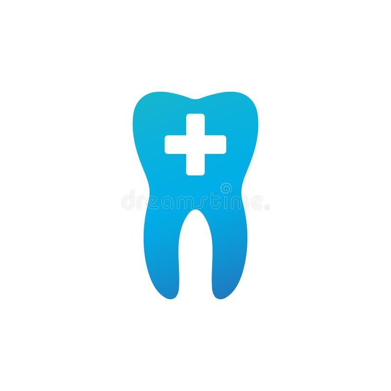 Logo médical de soins dentaires, dent et croix médicale, concept de santé Illustration de vecteur d'isolement sur le fond blanc illustration de vecteur