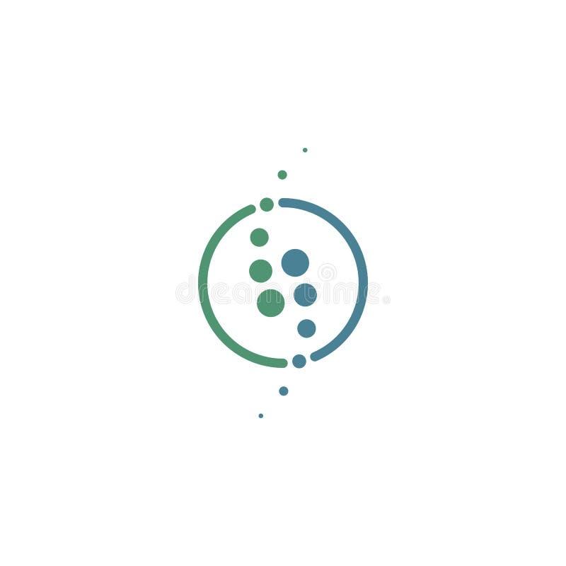 Logo médical moderne d'épine de chiropractie illustration libre de droits
