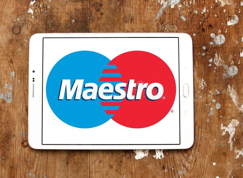 Maestro debit card logo royalty free stock images