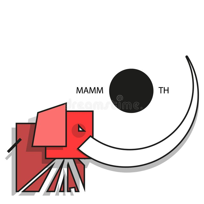 Logo mammoth royalty free stock image