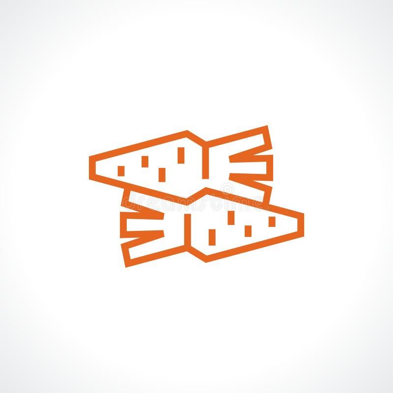 logo marchewki ilustracja wektor