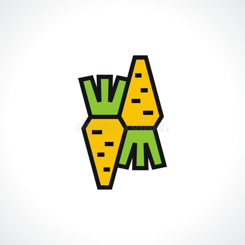 logo marchewki royalty ilustracja