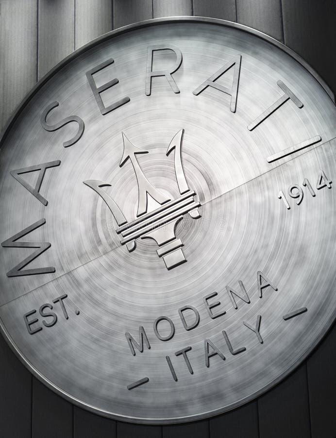 The logo of Maserati royalty free stock image