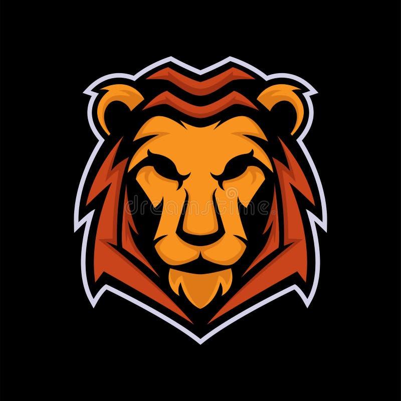 Logo maskotki wektor royalty ilustracja