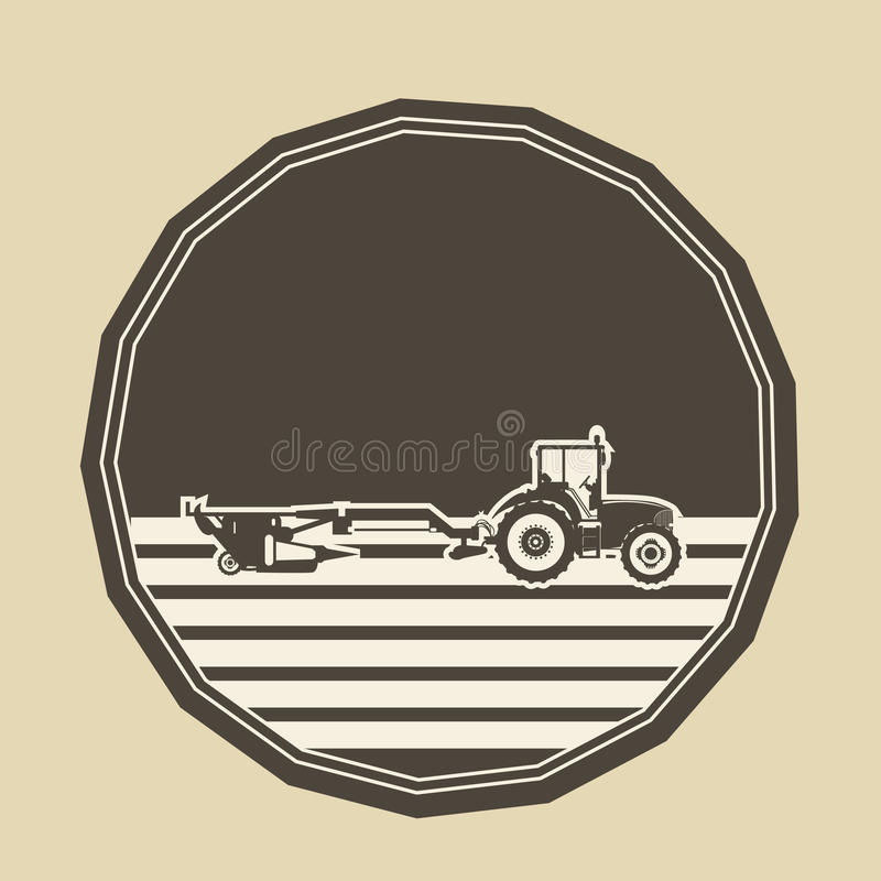 Logo med ploga för traktor arkivfoton