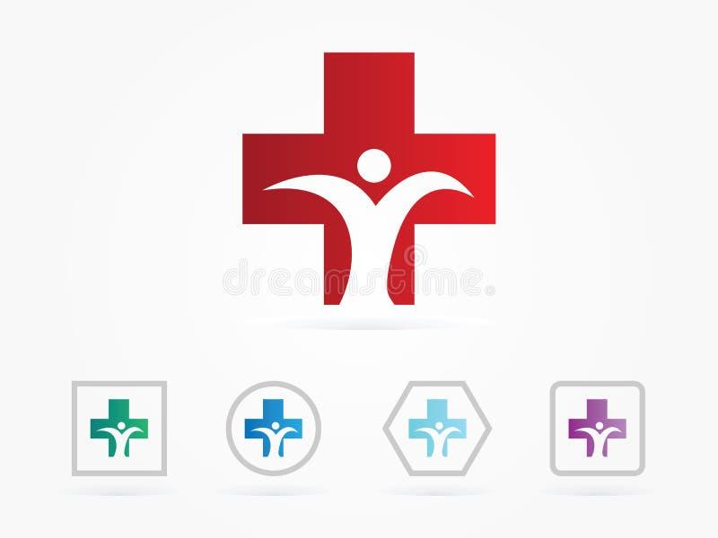 Logo medico dell'illustrazione di vettore royalty illustrazione gratis