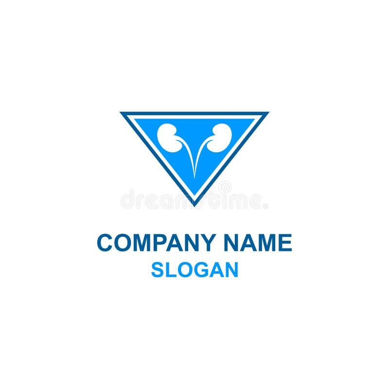 Logo medico di urologia illustrazione di stock
