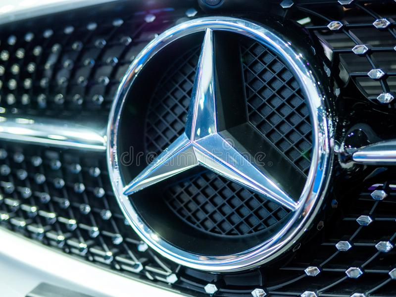 Logo mercedes Benz luxury royalty free stock images