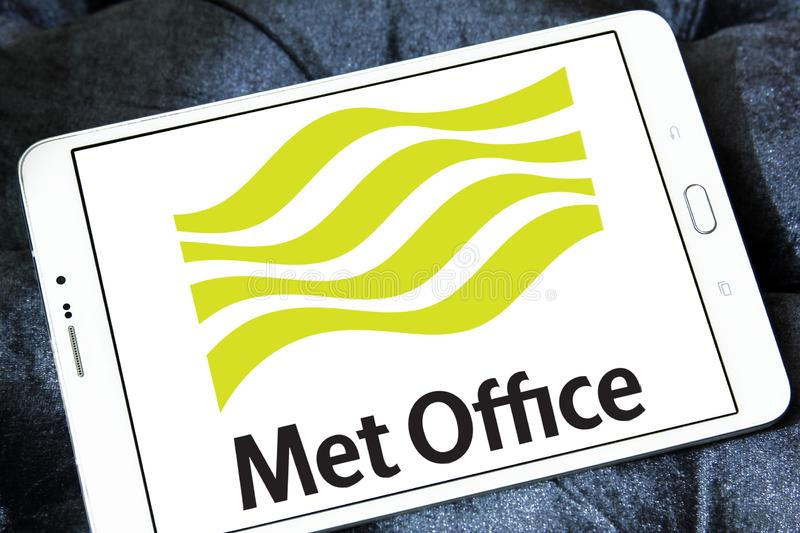 Met Office weather service logo stock photography