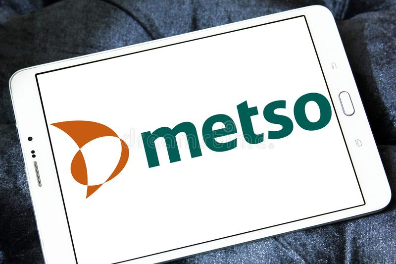 Metso Industrial Machinery Company Logo Editorial Stock