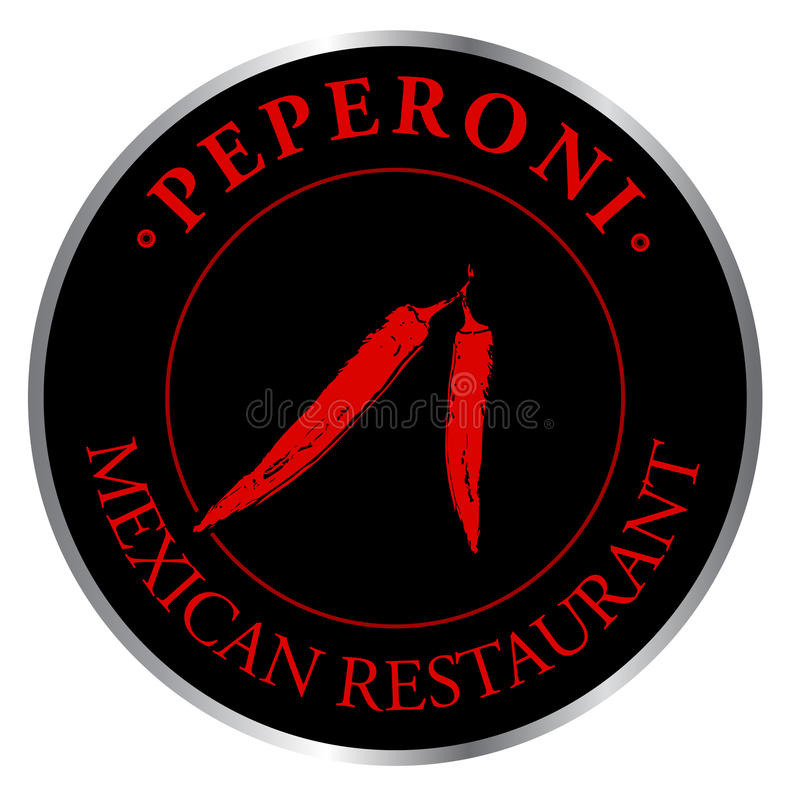 Logo Mexican restaurant vector illustration