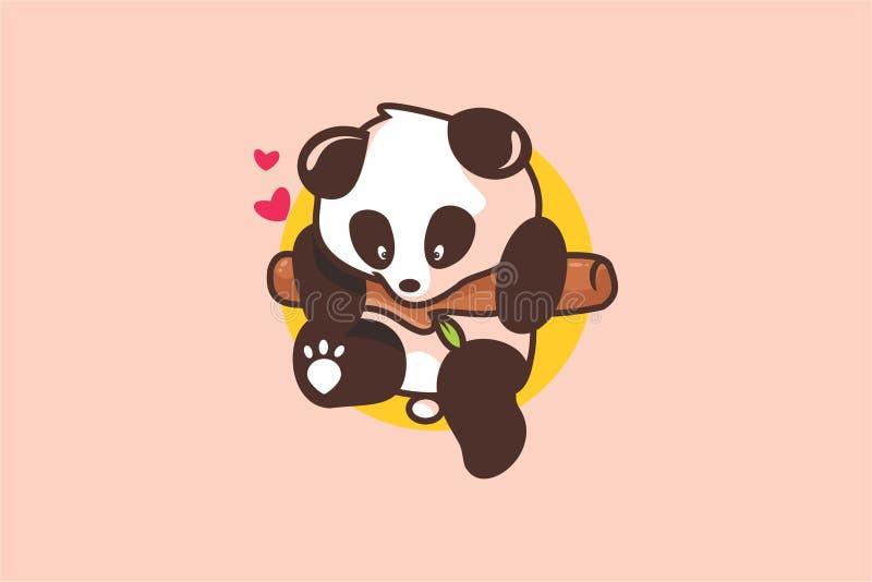 Logo mignon de panda de bébé illustration libre de droits