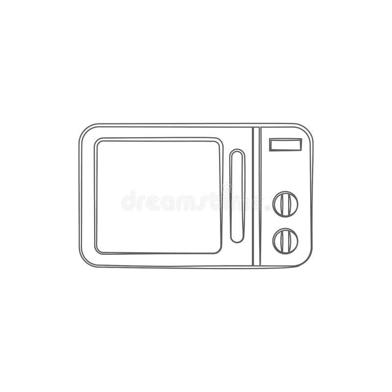 logo mikrofali piekarnika ikona Element cyber ochrona dla mobilnego pojęcia i sieci apps ikony Cienka kreskowa ikona dla strona i royalty ilustracja