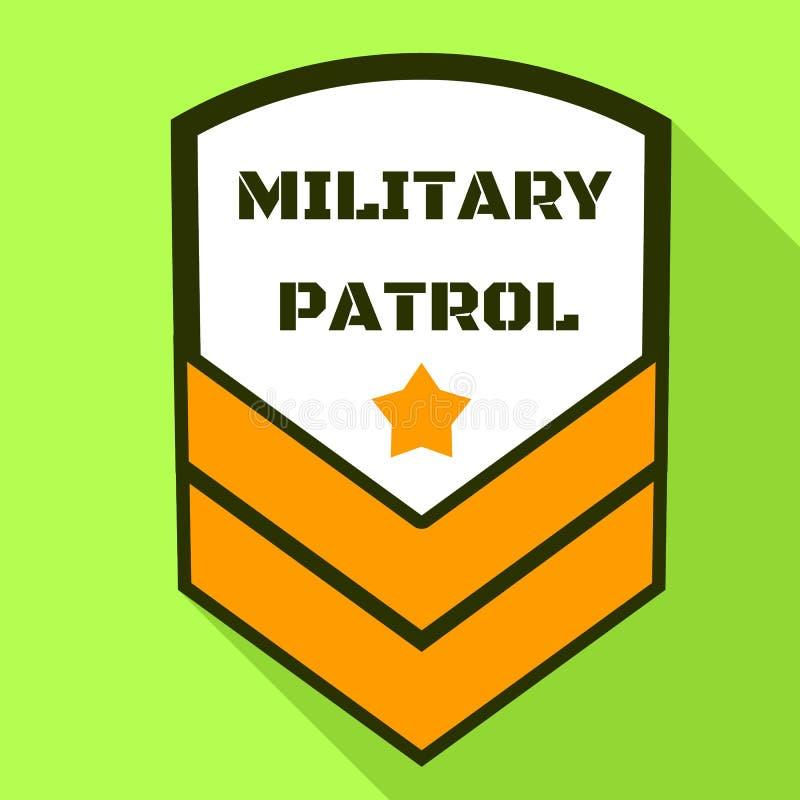 Logo militare della pattuglia, stile piano royalty illustrazione gratis