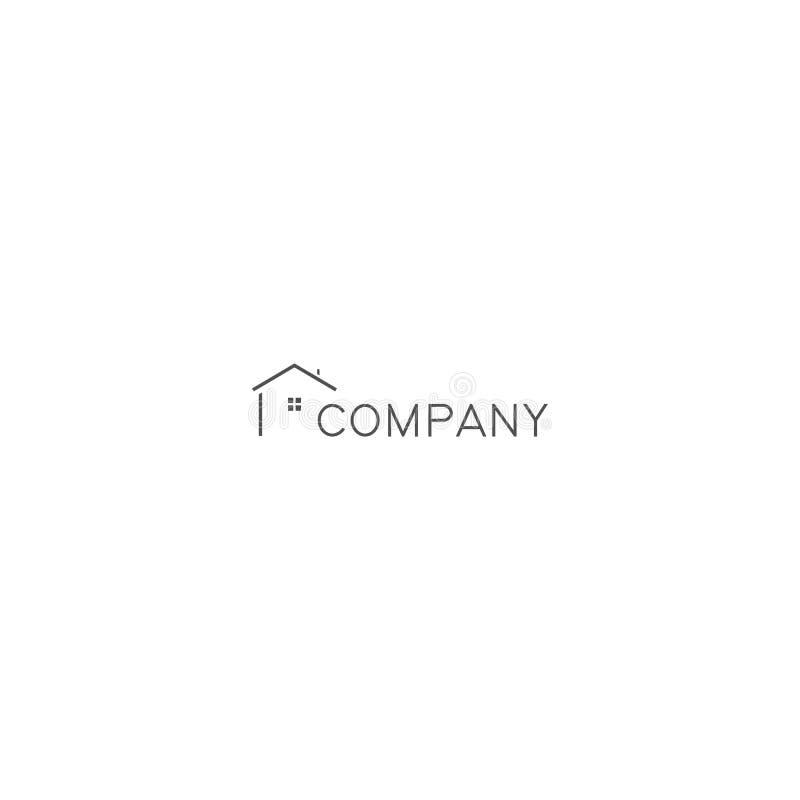 Logo Minimalist House, Minimal House Logo, Simple House Logo illustrazione di stock