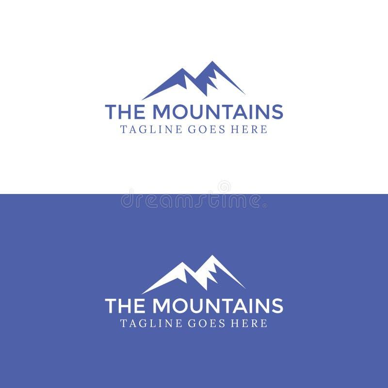Logo Minimalist Mountains per la vostra azienda illustrazione vettoriale