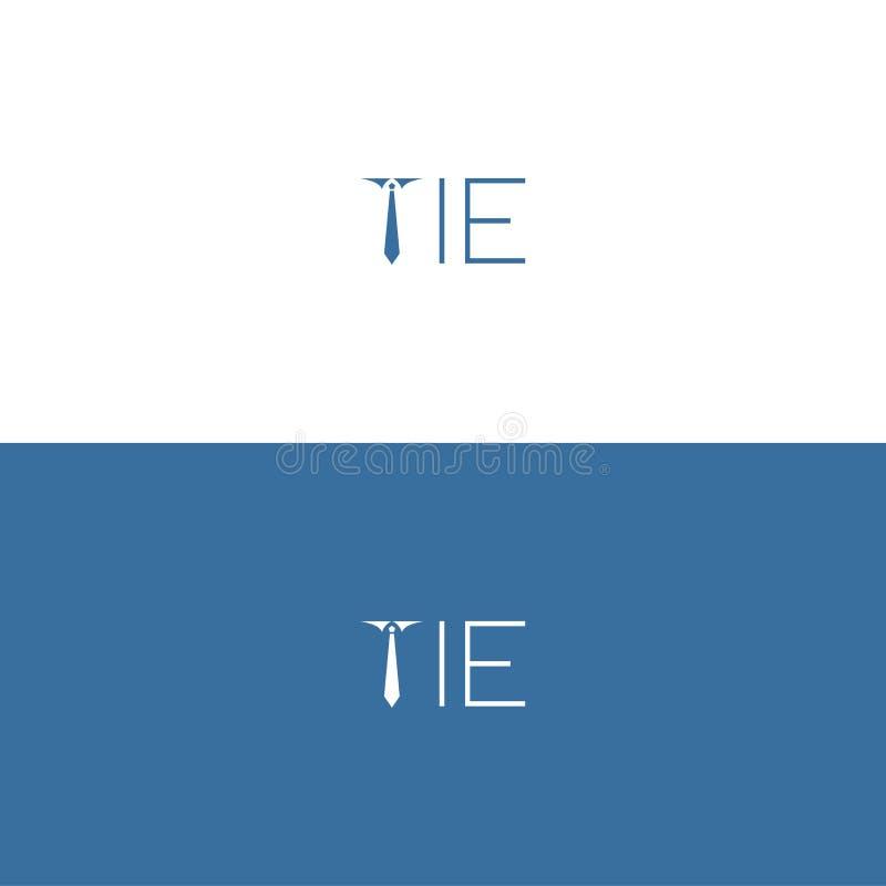 Logo Minimalist Tie per la vostra migliore azienda illustrazione di stock