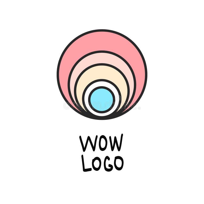 Logo minimalistic della perla illustrazione vettoriale