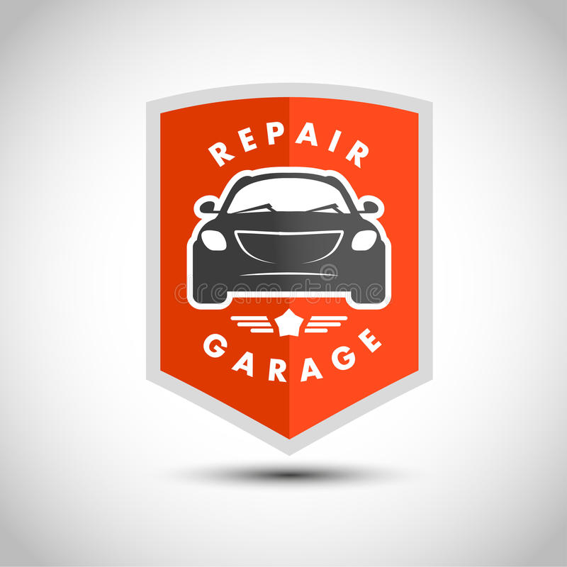 Logo minimalistic pianamente semplice dell'automobile di vettore illustrazione di stock