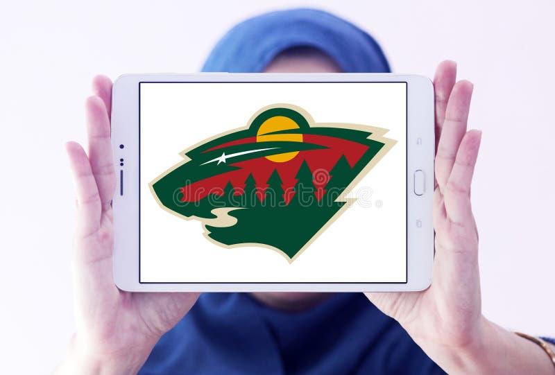 Minnesota Wild ice hockey team logo. Logo of Minnesota Wild ice hockey team on samsung tablet holded by arab muslim woman. The Minnesota Wild are a professional stock photos
