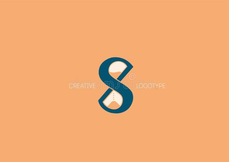 Logo mit einer doppelten Bedeutung, dem Buchstaben X, S und Sanduhr lizenzfreie abbildung