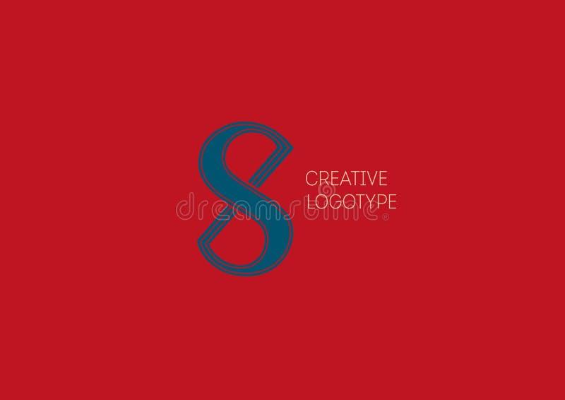Logo mit einer doppelten Bedeutung, der Buchstabe X, S vektor abbildung