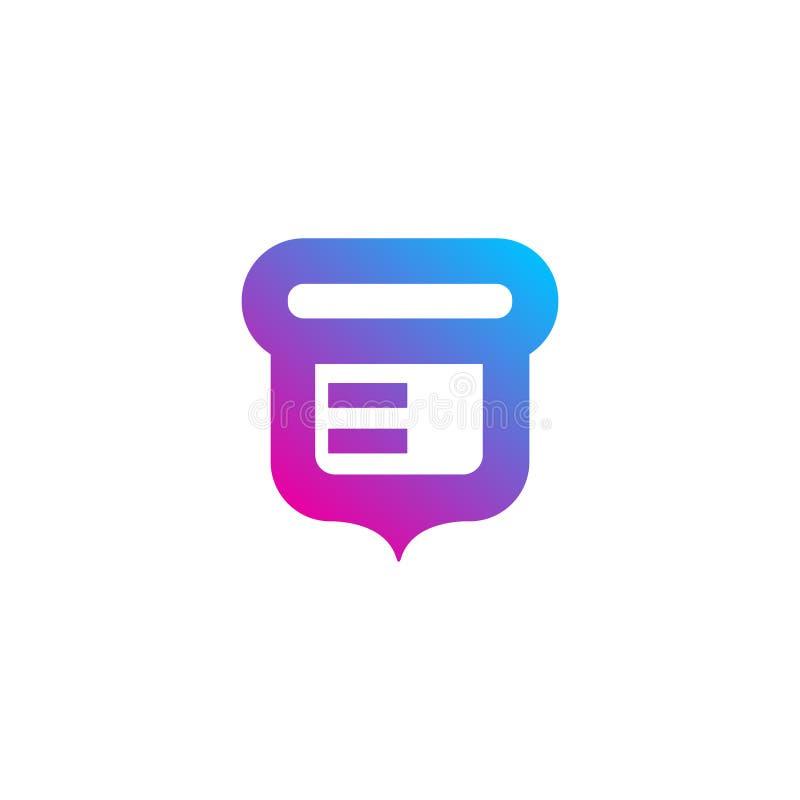 Logo mobile d'appli de gradient de noix - vecteur illustration de vecteur