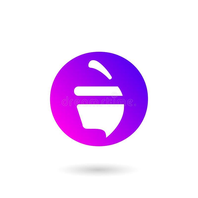 Logo mobile d'appli de gradient de noix - vecteur illustration stock