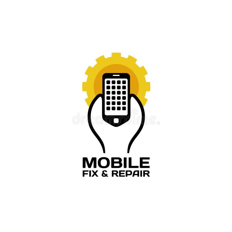 Logo mobile di riparazione illustrazione di stock