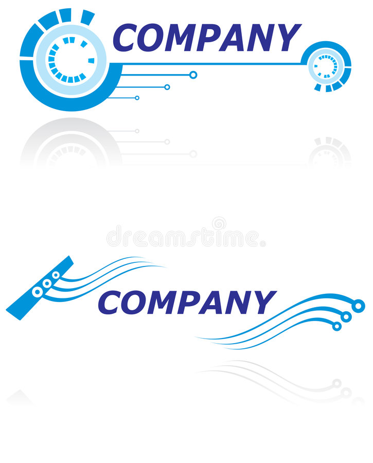 Logo for modern company. Two logo design templates for modern company