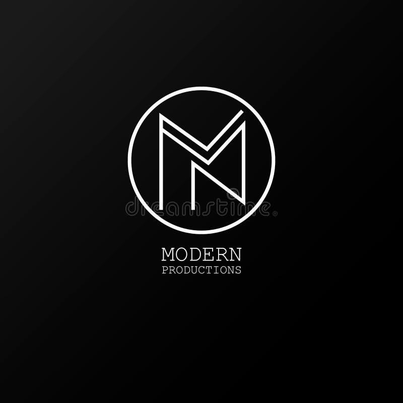 Logo Modern produktioner vektor illustrationer