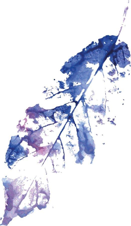 Logo moderne créatif de feuille d'arbre d'eco peint dans l'aquarelle illustration de vecteur
