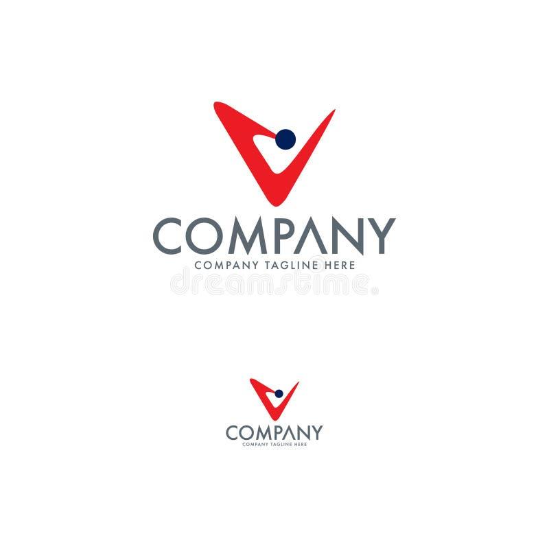 Logo moderne de la lettre Vcalibre de conception illustration stock