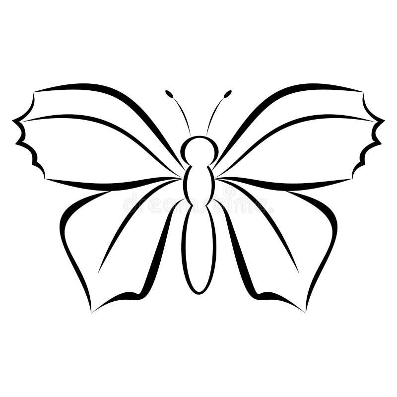 Logo moderne simple de papillon illustration de vecteur