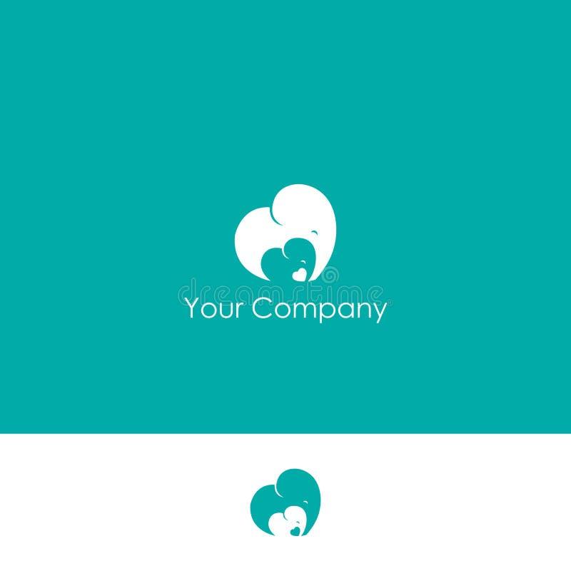 Logo moderne simple de soins des enfants illustration stock