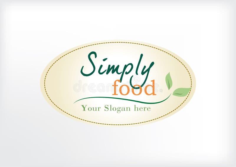 Logo moderne simple pour le restaurant ou le secteur alimentaire illustration de vecteur
