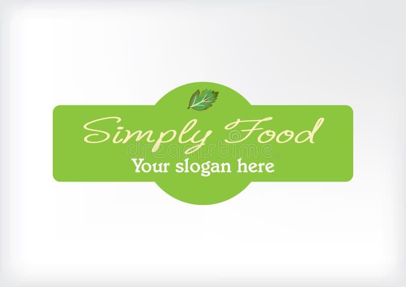 Logo moderne simple pour le restaurant ou le secteur alimentaire illustration libre de droits