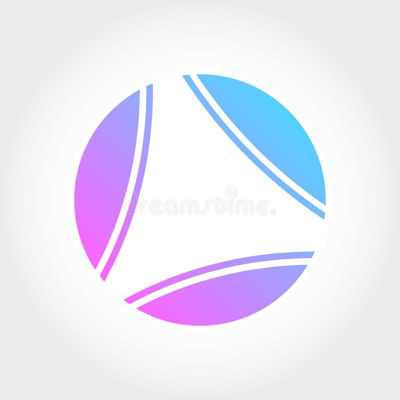 Logo moderno con la gradazione illustrazione di stock