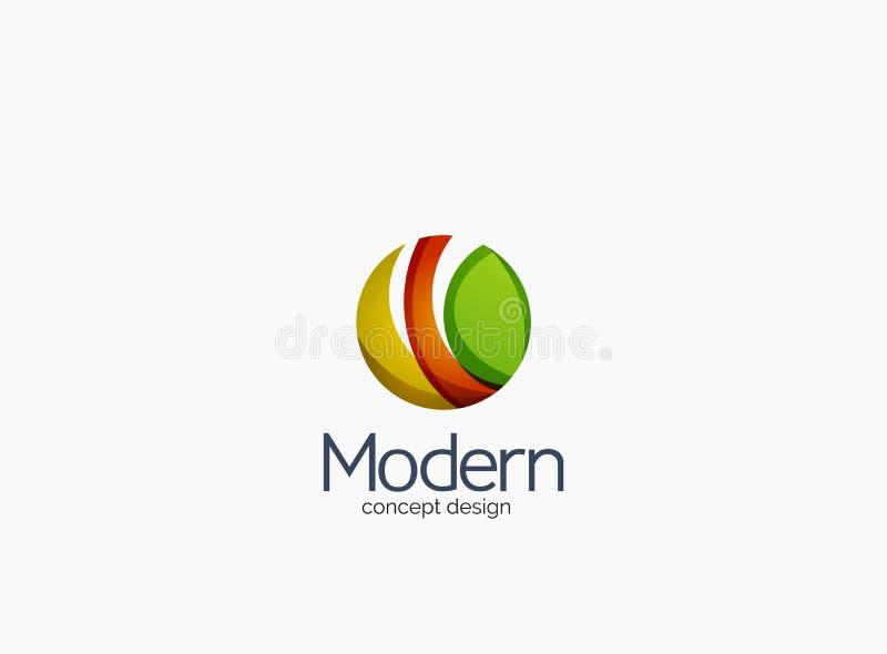 Logo moderno della società del cirlce, progettazione lucida pulita illustrazione di stock