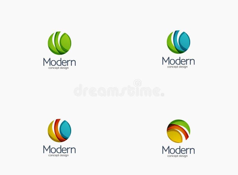 Logo moderno della società del cirlce, progettazione lucida pulita illustrazione vettoriale