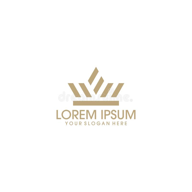 Logo moderno e creativo della corona royalty illustrazione gratis