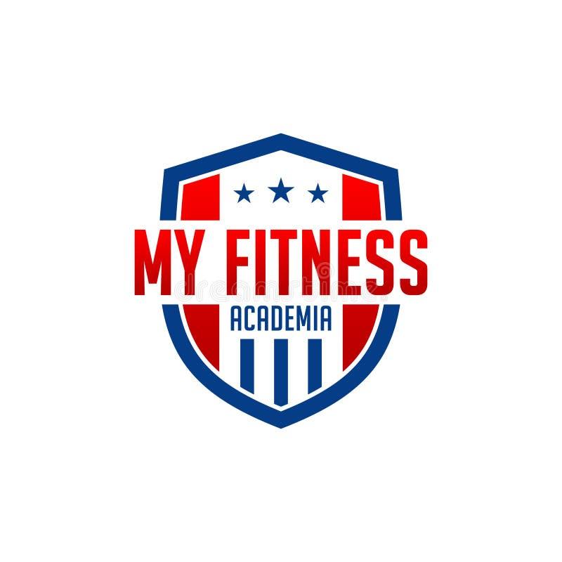 Logo mon académie de forme physique illustration stock