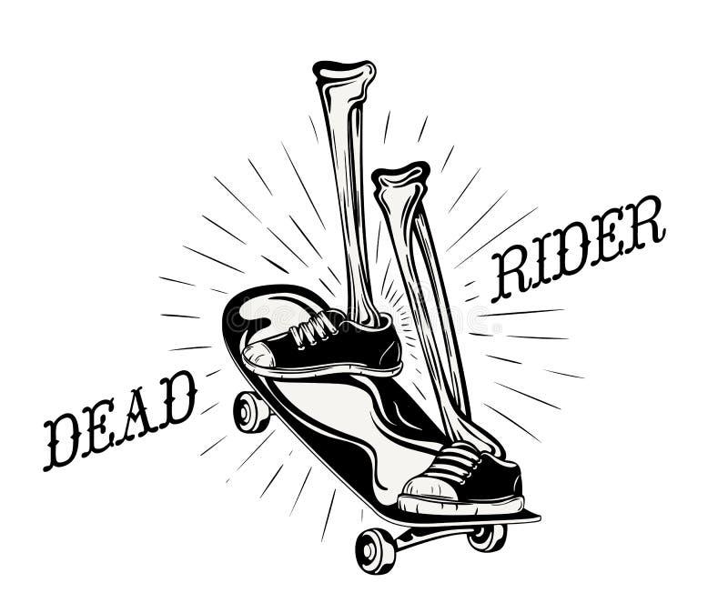 Logo morto del cavaliere royalty illustrazione gratis