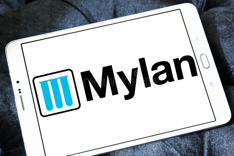 Mylan Pharmaceuticals Company Logo Editorial Image - Image