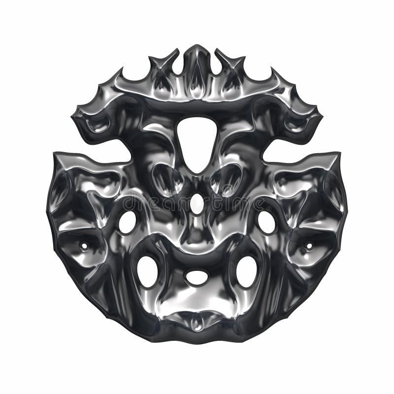 Logo mystérieux et bizarre en métal illustration libre de droits